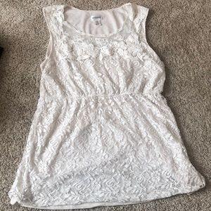 Motherhood Maternity White Lace Top XL